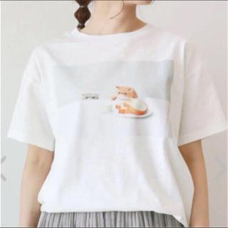 サマンサモスモス(SM2)のサマンサモスモス ねこねこ食パン ホワイト Tシャツ(Tシャツ(半袖/袖なし))