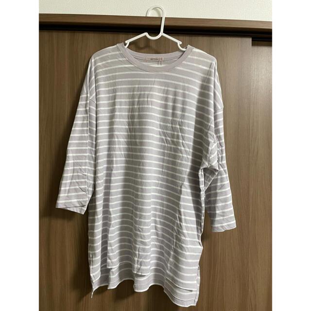 NICE CLAUP(ナイスクラップ)のナイスクラップ ボーダーTシャツ レディースのトップス(Tシャツ(長袖/七分))の商品写真