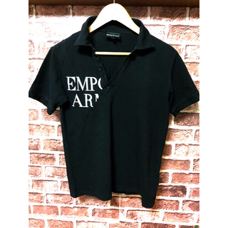 Emporio Armani - 美品 エンポリオアルマーニ ポロシャツ イーグル ビックロゴ ブラック