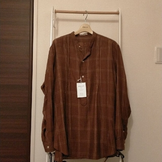COMOLI - AURALEE SUPER LIGHT CHECK BIG SHIRTS シャツ