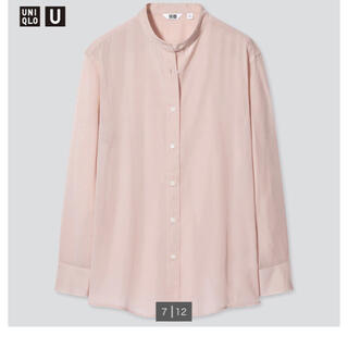 UNIQLO - バンドカラーシアーシャツ