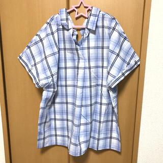 サマンサモスモス(SM2)のSM2*blue チェックシャツ 2way(シャツ/ブラウス(半袖/袖なし))