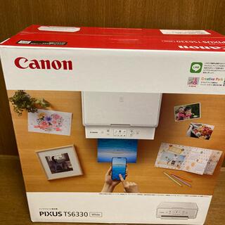 送料無料 新品 Canon PIXUS TS6330WH ホワイト プリンター