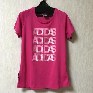 アディダス(adidas)のadidas Tシャツ ピンク レディースLサイズ(ウェア)