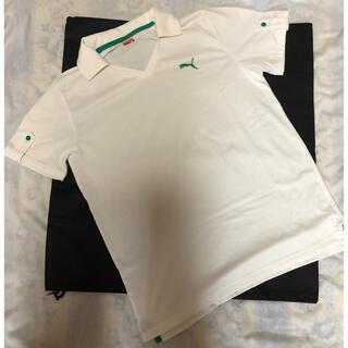 プーマ(PUMA)のプーマ  白 ワンポイント襟付きTシャツ スポーツウェア(ポロシャツ)
