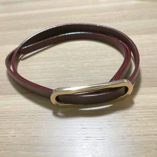 ジーユー(GU)の新品未使用 GU  ベルト ゴールド ボルドー(ベルト)
