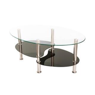 センターテーブル おしゃれ ガラス ローテーブル 楕円 リビングテーブル(ローテーブル)