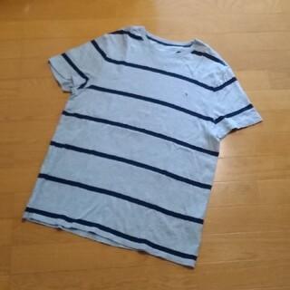 トミーヒルフィガー(TOMMY HILFIGER)のTOMMY HILFIGER☆Tシャツ ボーダー グレー メンズ(Tシャツ/カットソー(半袖/袖なし))