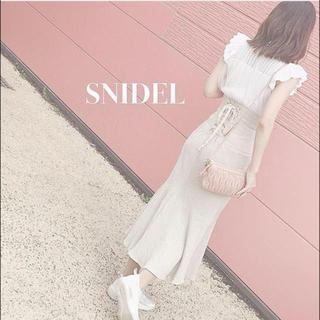 snidel - スナイデル コットンリネンマーメイドスカート
