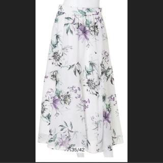 JUSGLITTY - 今期エアリーフラワープリントスカート新品