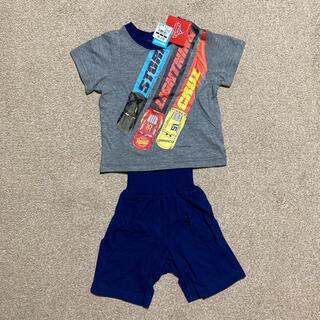 ディズニー(Disney)の新品タグ付⭐︎カーズ 半袖腹巻付きパジャマ サイズ90(パジャマ)