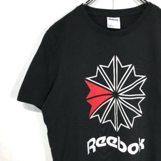 リーボック(Reebok)の〇定番人気☆リーボッククラッシック☆半袖Tシャツ☆L☆黒☆ロゴプリント☆I12 (Tシャツ/カットソー(半袖/袖なし))