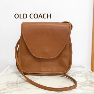 コーチ(COACH)の美品 オールドコーチ OLD COACH ショルダーバッグ ブラウン レザー(ショルダーバッグ)