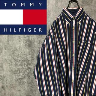 トミーヒルフィガー(TOMMY HILFIGER)の古着❗️ トミーヒルフィガー ストライプシャツ 90s(シャツ)