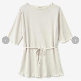 シマムラ(しまむら)のTERA  TRWヒモツキメロウT 淡肌  M(Tシャツ(半袖/袖なし))