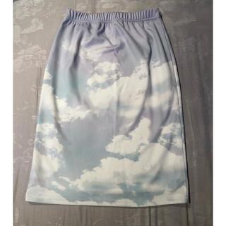 エルディーエス(LDS)のLDS×AMO 雲柄タイトスカート(ひざ丈スカート)