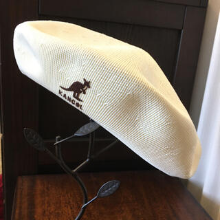 カンゴール(KANGOL)のカンゴール メッシュ ベレー帽 アイボリー(ハンチング/ベレー帽)