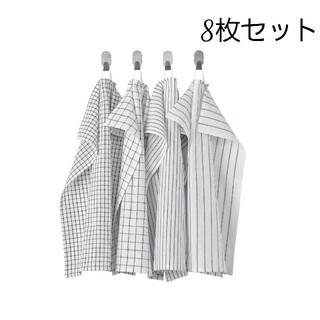イケア(IKEA)のキッチンクロス タオル 4枚セット リンニング(収納/キッチン雑貨)