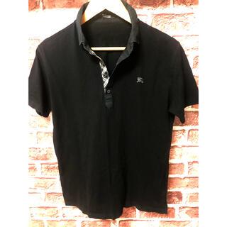 バーバリー(BURBERRY)の美品 Burberry バーバリー ポロシャツ Yシャツ ブラック(ポロシャツ)