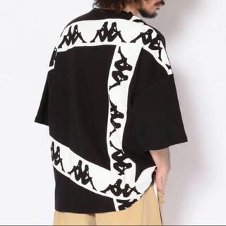 カッパ(Kappa)の新品 Kappa カッパ WEB限定 半袖 ビッグ Tシャツ M ブラック(Tシャツ/カットソー(半袖/袖なし))