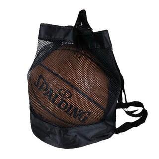 バスケットボール バスケットボール入れ スポーツ スポーツバッグ ブラック 黒(バスケットボール)