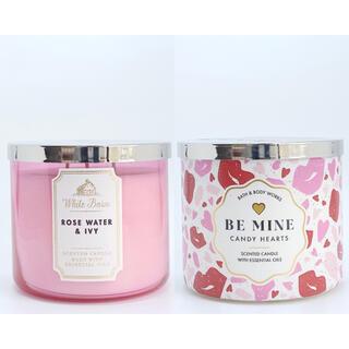 Bath & Body Works - BBW キャンドル Rose Water IvyとCandy Hearts 2点