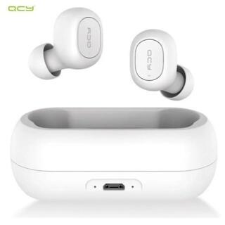 [新品未使用品] ホワイト QCY T1 Bluetooth ワイヤレスイヤホン