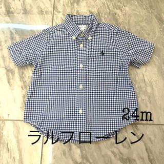POLO RALPH LAUREN - 美品 ラルフローレン ギンガムチェックシャツ 24m