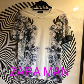 ザラ(ZARA)のZARA MAN  花柄Tシャツ  美品(Tシャツ/カットソー(半袖/袖なし))
