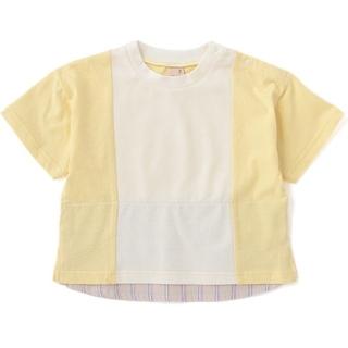 petit main - 【新品未開封】petit main  プティマイン 裾シャツ切り替えTシャツ