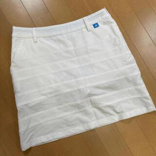 adidas - ゴルフウェア・着回しのきくホワイトスカートadidas
