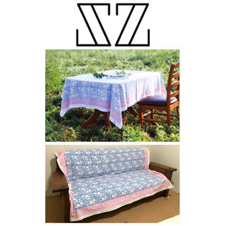 Ron Herman - 【新品】SZ blockprints  マルチクロス 水色×ピンク 花柄