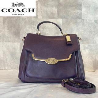 COACH - 【COACH】コーチ 2way マディソン パープル ハンドバッグ 26624