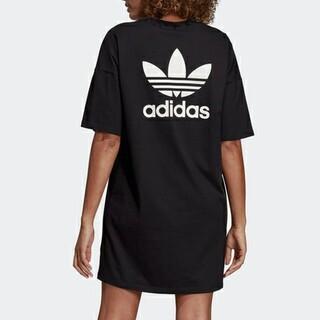アディダス(adidas)のadidas バックロゴデザイン ロングTシャツ ワンピース(その他)
