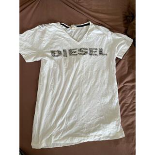 ディーゼル(DIESEL)の【美品、お買い得】ディーゼルDIESEL Tシャツ/ メンズサイズLホワイト(Tシャツ/カットソー(半袖/袖なし))