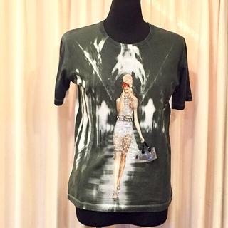 プラダ(PRADA)のPRADA プラダ コットン Tシャツ SIZE  M ビーズ ビジュー(Tシャツ(半袖/袖なし))