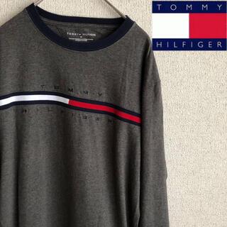 トミーヒルフィガー(TOMMY HILFIGER)の90s tommy hilfiger ビッグロゴ 長袖 Tシャツ ロンT M(Tシャツ/カットソー(七分/長袖))