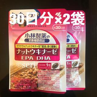 コバヤシセイヤク(小林製薬)の小林製薬 ナットウキナーゼ DHA EPA 30日分×2袋(その他)
