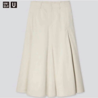 ユニクロ(UNIQLO)のコットンツイルフレアスカート (ひざ丈スカート)