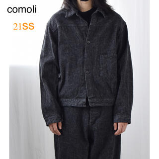 コモリ(COMOLI)のcomoli 21ss コモリ デニムジャケット ブラック エクリュ(Gジャン/デニムジャケット)