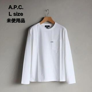 アーペーセー(A.P.C)のA.P.C.  刺繍入りポケット付長袖Tシャツ(Tシャツ/カットソー(七分/長袖))
