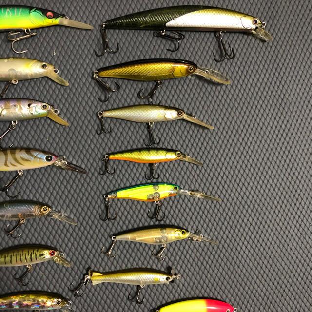 JACKALL(ジャッカル)のミノー シャッド15個セット スポーツ/アウトドアのフィッシング(ルアー用品)の商品写真