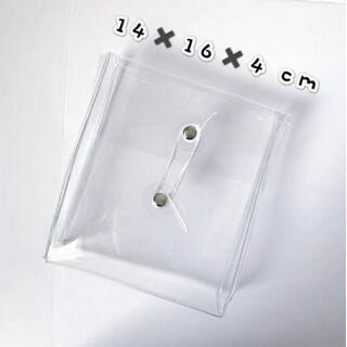 韓国雑貨 クリアポーチ クリアケース クリアバッグ 糸巻き 収納 レディース(ペンケース/筆箱)