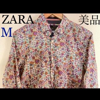ザラ(ZARA)の★美品★ZARA花柄シャツ【M】大人の雰囲気をプラスしてくれます♪(シャツ)