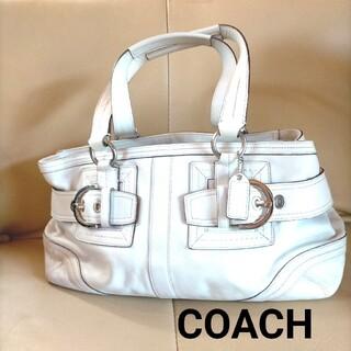 コーチ(COACH)のCOACH(コーチ) ハンドバッグ ソーホーレザーサッチェル 2116 白 レザ(ハンドバッグ)