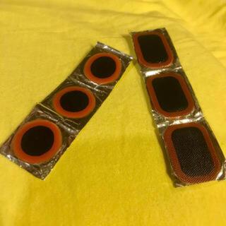 自転車 修理パッチ タイヤパッチ タイヤ修理 パンク修理 6枚セット 丸 長方形(工具/メンテナンス)