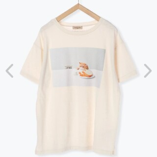 サマンサモスモス(SM2)のサマンサモスモス ねこねこ食パン フォトプリント半袖Tシャツ(Tシャツ(半袖/袖なし))