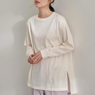 美品 アースミュージックアンドエコロジー サイドスリットロンT(Tシャツ(長袖/七分))