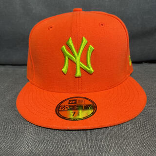 ニューエラー(NEW ERA)のニューエラキャップ オレンジ ライトグリーン new era(キャップ)