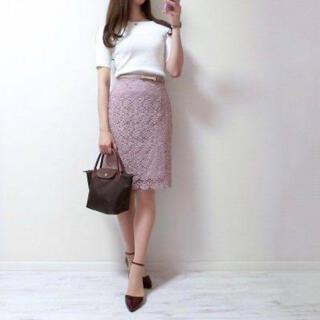 ユニクロ(UNIQLO)のUNIQLO♡レースタイトスカート(ひざ丈スカート)